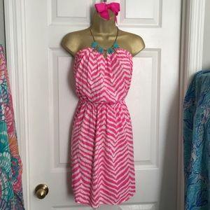 Lilly Pulitzer Windsor Dress Tropical Pink Zebron